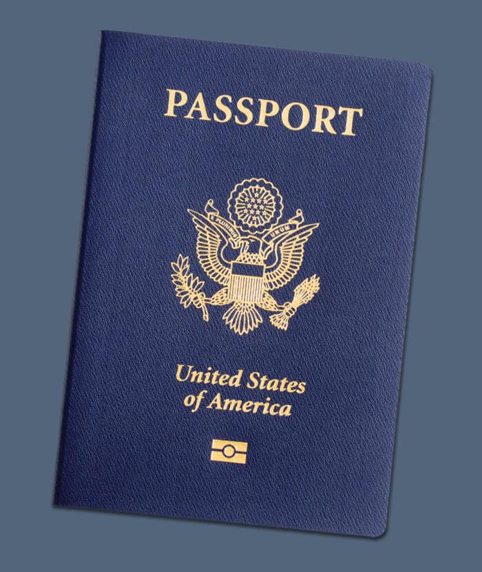 US passport image